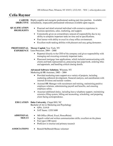 Objective For Assistant Resume by Sle Objective On Resume For Administrative Assistant