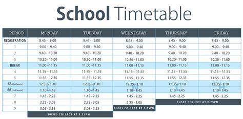 school timetable belfast model school  girls