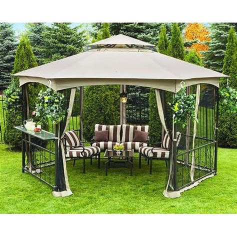 hexagon gazebo walmart canada sunjoy hexagon gazebo garden winds canada