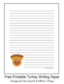 Thanksgiving Lined Writing Paper Cute Turkey Lined Writing Paper Writing Reading Pinterest