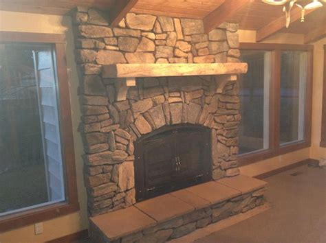 rustic creations inc cultured fireplace
