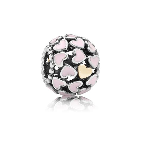 Openwork Bow Silver Charm With Soft Pink Enamel P 372 openwork silver charm with 14k and pink enamel pandora 1730 12 39 pandora jewelry