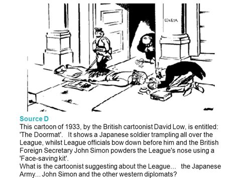 David Low The Doormat doormat manchuria in 1932 japan invaded manchuria which was part of china the