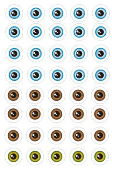 printable eye stickers print your own eye stickers template pack eyes stickers