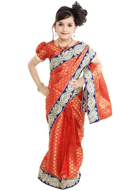 Baju India Anak Perempuan 6 contoh model baju sari india anak perempuan 2016