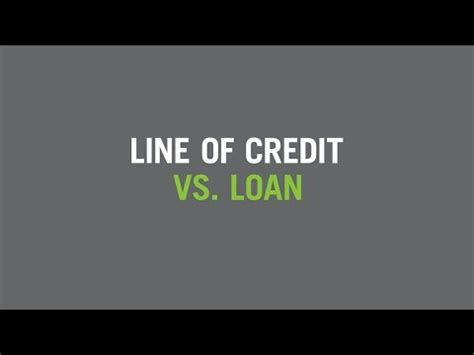 Letter Of Credit Vs Loan personal line of credit vs personal loan