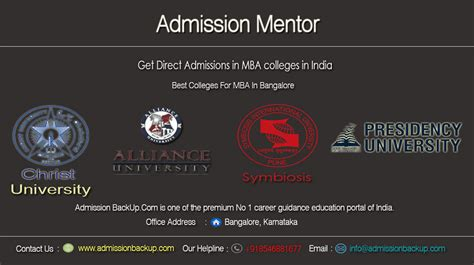 Best Mba Concentration For Future by The Best Mba Admission Bangalore One Roof