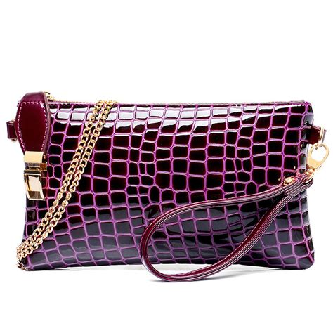 blue pattern clutch bag j47 new stone pattern small women handbag female leather