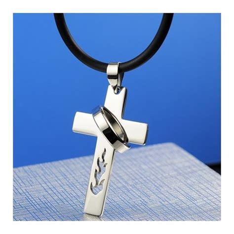boys titanium cross necklace pendant titanium