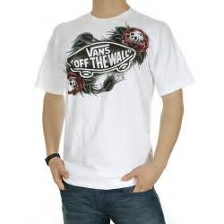 Kaos Tshirt Vans Skull vans oliver peck t shirt white free uk delivery and returns