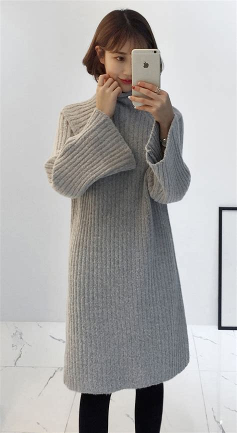 miamasvin high neck ribbed knit midi dress kstylick