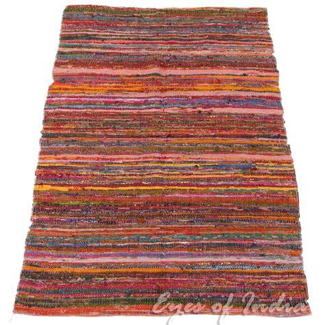 chindi rugs for sale 5 5 x 3 5 ft indian chindi rag rug floor mat carpet woven handloom throw decor ebay