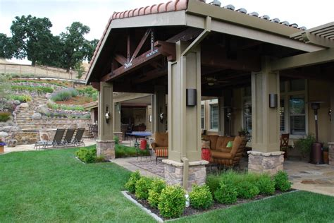 backyard patios ideas patio mediterranean with column