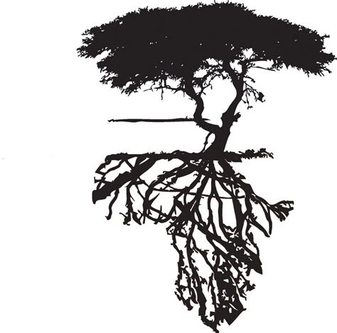 tattoo paper south africa africa outline made by tree roots tattoo pinterest