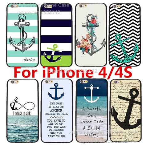 Hardcase Print For Iphone 4 4s with stripe anchor print for apple