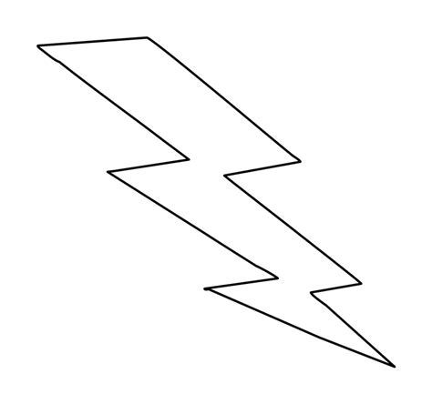 lightning bolt template lightning bolt stencils clipart best