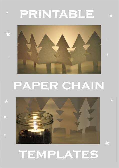 free printable holiday paper chain template link vorlage
