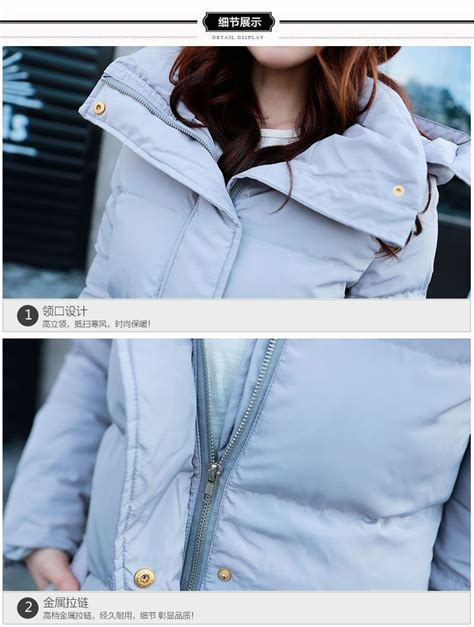 Jfk Jaket Wanita Korea Roundhand Jaket Navy jaket wanita korea lightgray winter coat
