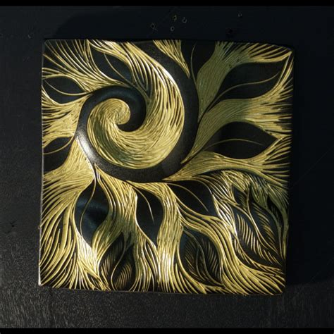 relief pattern wall tile wall art decor ideas green abstract ceramic wall tile art