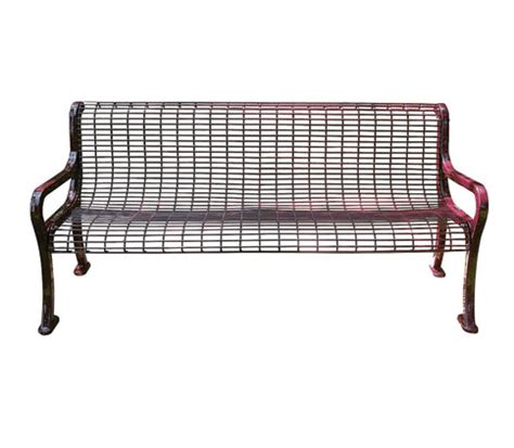 wire bench roll formed wire bench metal benches site furnishings