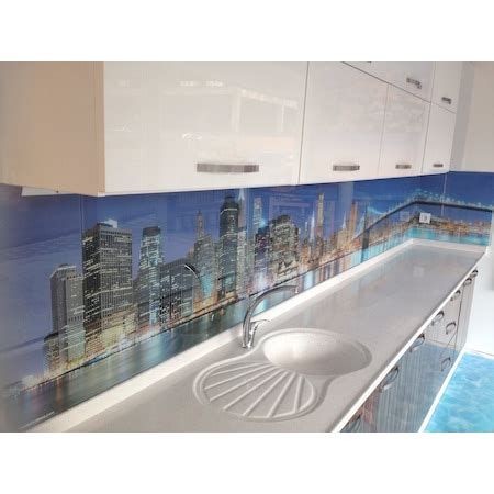 mutfak tezgah arasi  cam panel sistemleri ncom