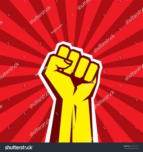 Design Revolution Background | human hand proletarian revolution vector illustration