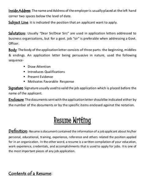 Resume Employment Address Letter Resume Writing