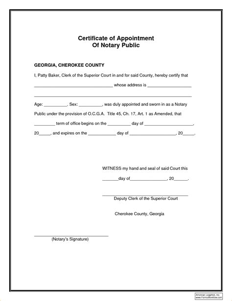 Exle Of Signature Log Bing Images Notary Template Word