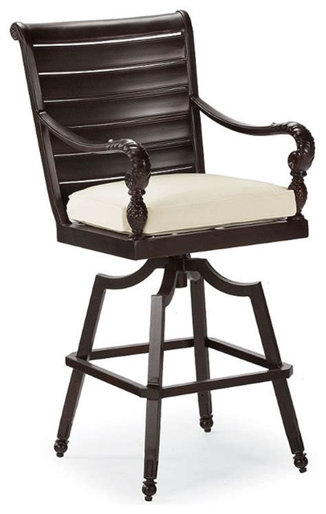 colonial swivel outdoor bar stool cushion patio