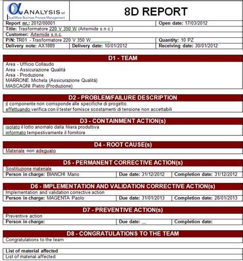 8d report sle pdf 8d report qualiware