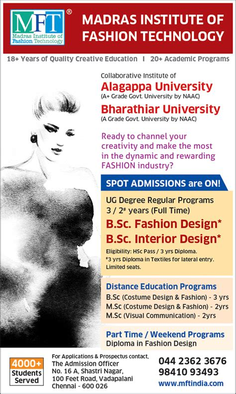Correspondence Mba Courses In Chennai by Fashion Designing Courses In Chennai Distance Education