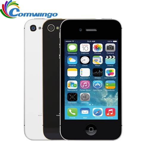 Hp Iphone 4 S 16gb unlocked apple iphone 4s phone 8gb 16gb 32gb rom white black ios gps wifi gprs free gift free