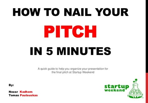 5 Minute Speeches Sles how to nail a 5 minute pitch at startup weekend