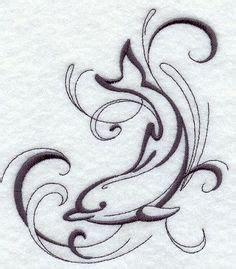 jesus lleo tattoo motif de tatouage dauphin et hibiscus by linshaena