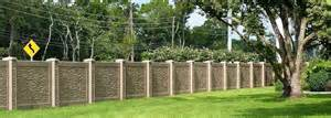 Stonetree 174 concrete perimeter fence provides easy access after