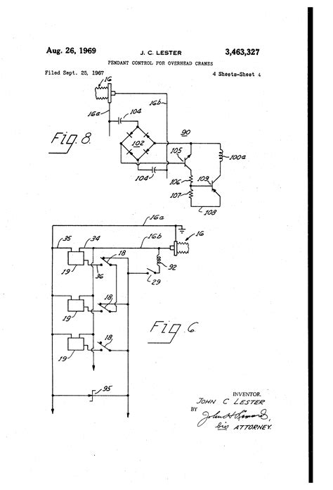 patent us3463327 pendant for overhead cranes