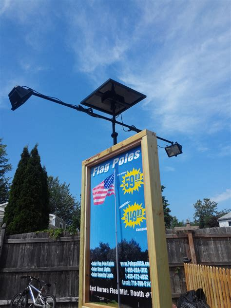 solar billboard lights solar flagpole lighting solar landscape lights polepalusa