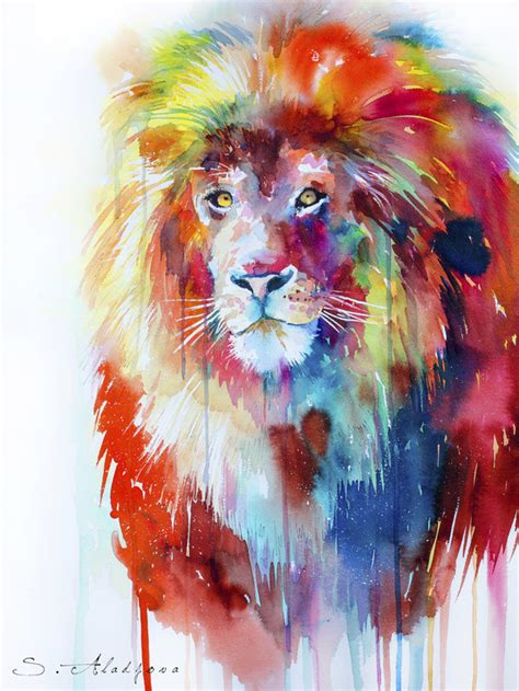 Watercolor Lion Tutorial | watercolor lion tumblr