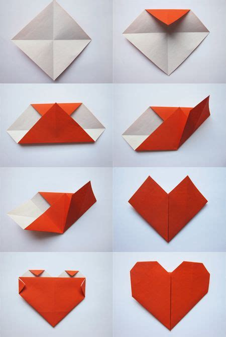 Hearts Origami - simple origami kid s crafts