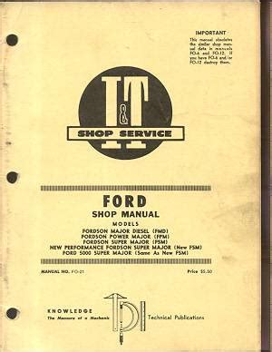 Ford Fordson Power Major Super 5000 Tractor Service