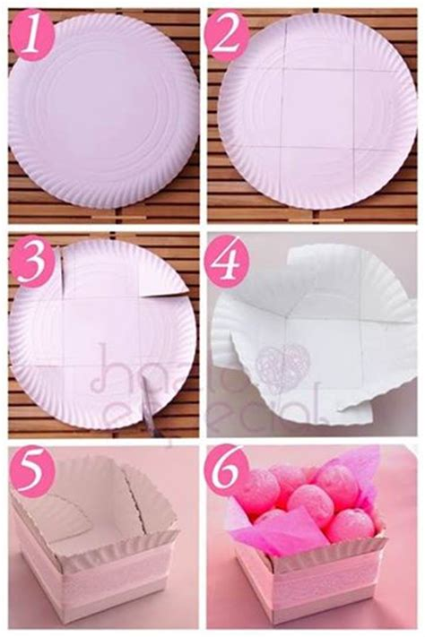 How To Make A Basket Out Of Paper - diy cookie basket out of paper plate www fabartdiy