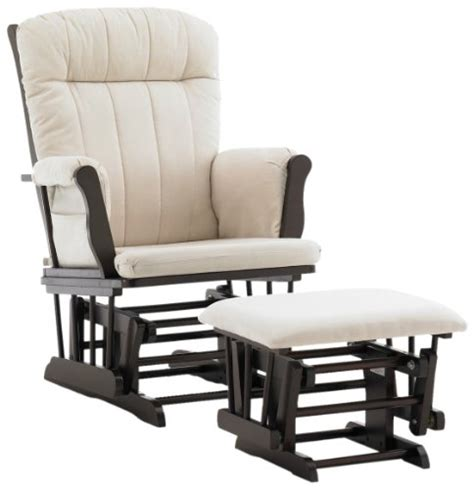 Espresso Rocking Chair Nursery Glider Graco Avalon Glider With Ottoman Espresso Nursery For Baby