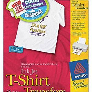 avery iron on transfers laser printer amazon com avery personal creations inkjet light t