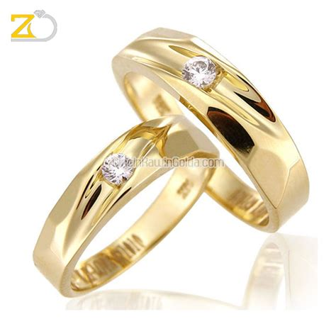Cincin Kawin Nikah Tunangan Pasangan Palladium50 3 cincin kawin emas kuning 75 18k perak 925 gd31091