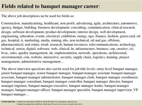 Banquet Manager Description by Top 10 Banquet Manager Questions And Answers