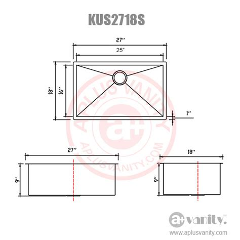 how to measure kitchen sink new 27 quot zero radius stainless steel mounted single kitchen sink kus2718 ebay