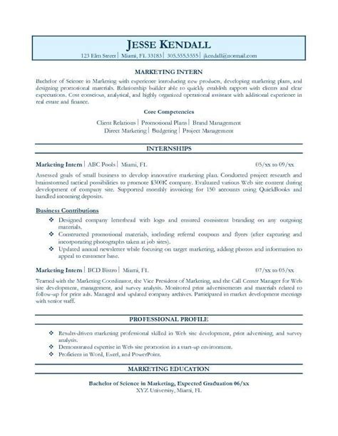 intern resume objective objectives for internship with experience