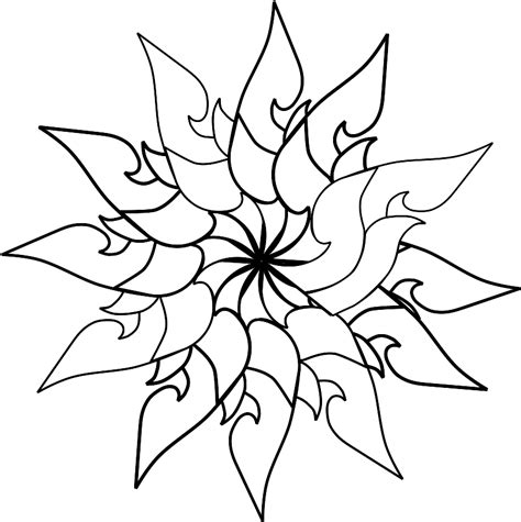Cool Shape Outlines To Draw by Cool Simple Flower Designs To Draw Clipart Best