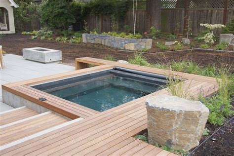 backyard ideas with hot tub backyard designs with pool and hot tub landscaping