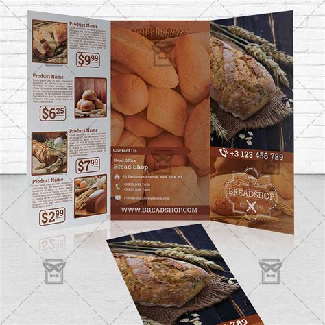 bakery brochure template bakery food premium tri fold brochure template